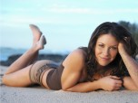Evangeline Lilly Wallpaper Beach