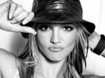 Britney Spears Black White Hat