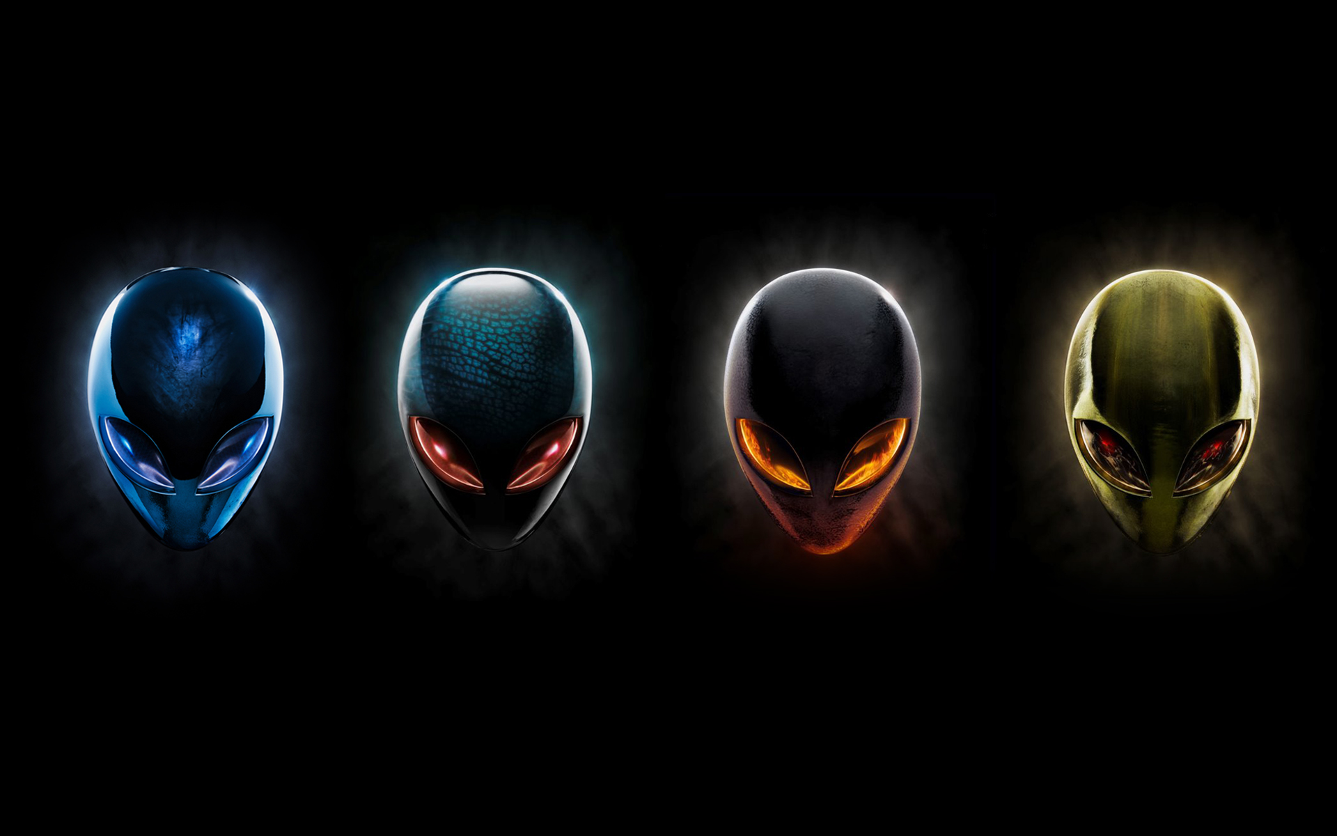 Alienware-4-colour-heads Wallpaper, Desktop, HD, Free Download