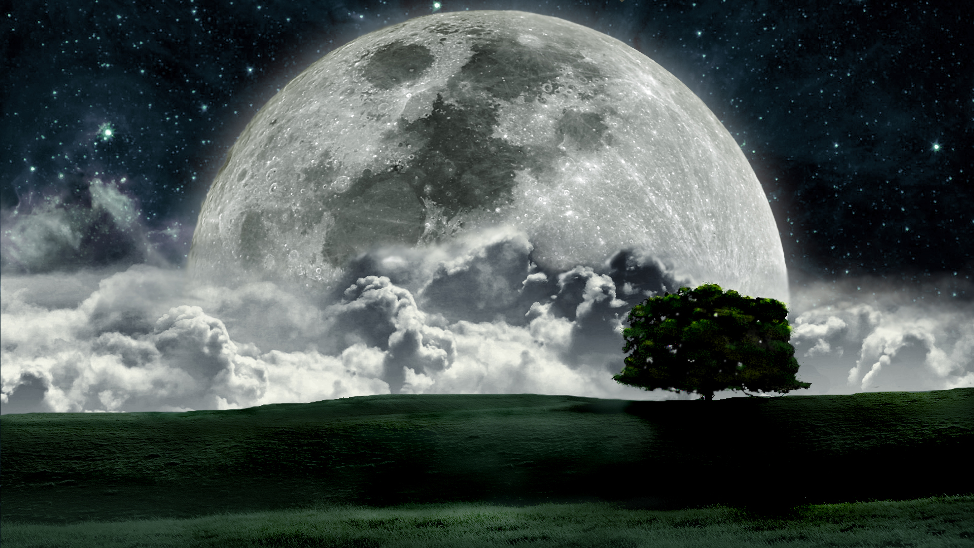 Moon Landscape Wallpaper, Desktop, HD, Free Download