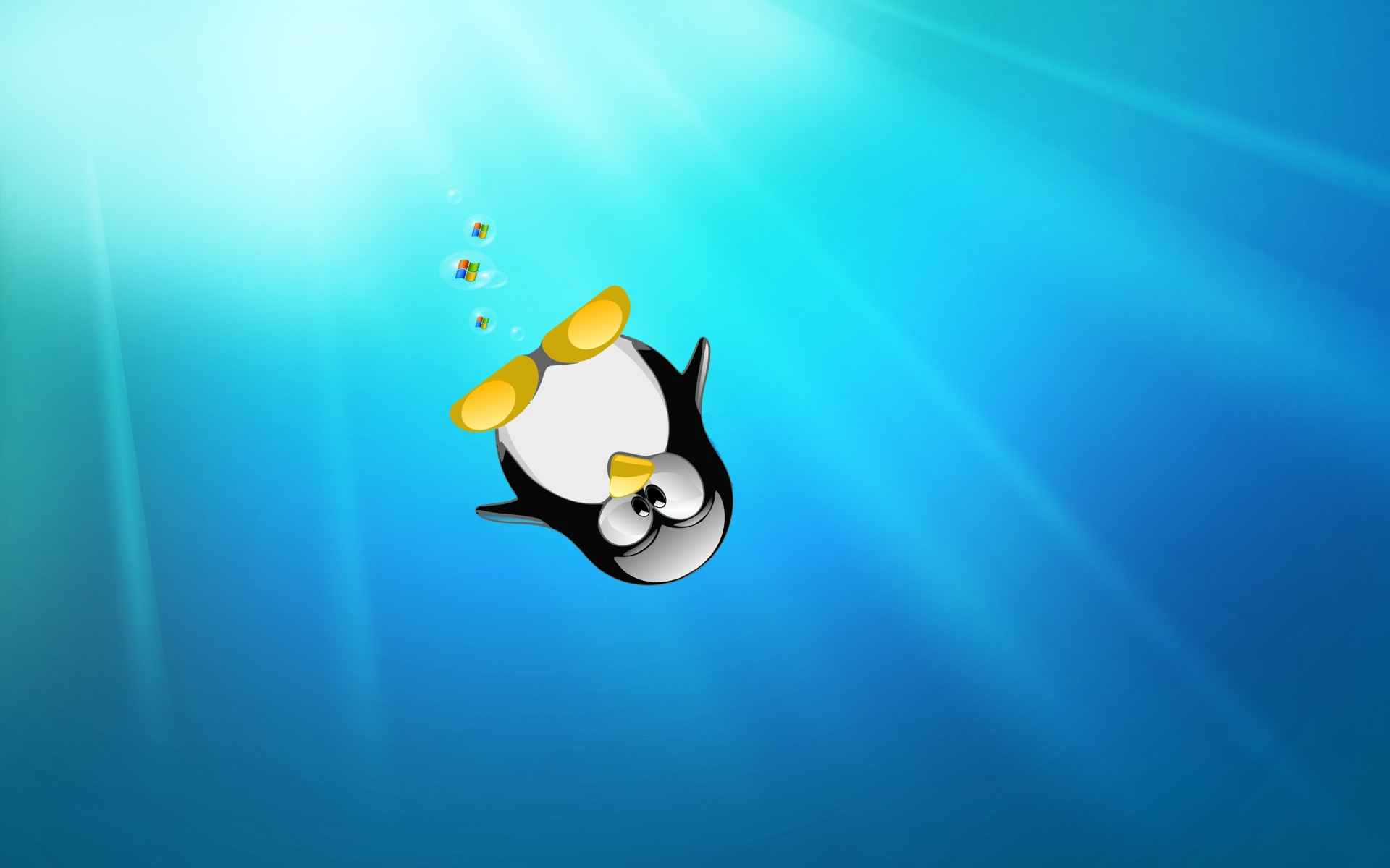 linux wallpapers penguin sea dreamwallpapers.co .uk  Wallpaper linux hd